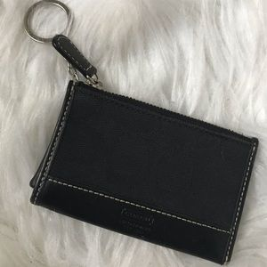Coach signature credit card holder with keychain